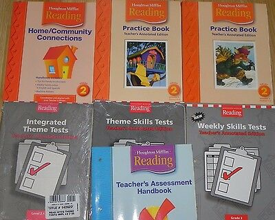 Houghton Mifflin Reading Grade 2 Lot of 11 Books Teacher Materials Skills Tests,