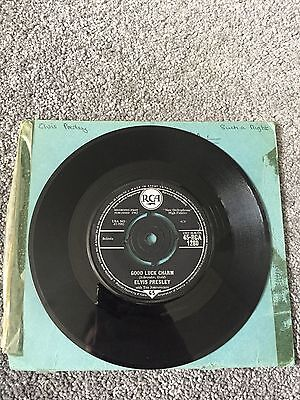 "Elvis Presley Good Luck Charm 1962 Uk 7"" Vinyl Record Single"