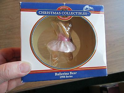 Dayton Hudson Christmas Ornament Ballerina Bear 1998 series collectible boxed