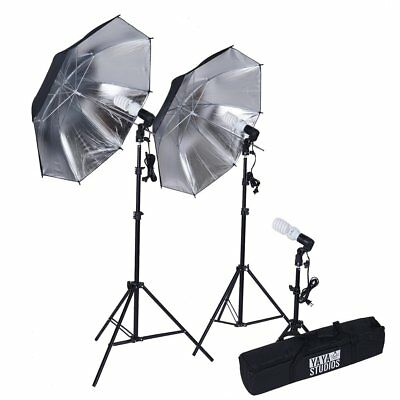 Black and Silver Photography Video Studio Umbrella Continuous Lighting Kit SALE