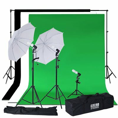 Professional Photo Video Studio Lighting Kit Daylight Umbrella with Backdrops
