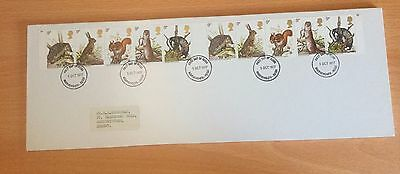 GB Stamps 1977, British Wildlife, Very Fine Used strip of 10 FDC