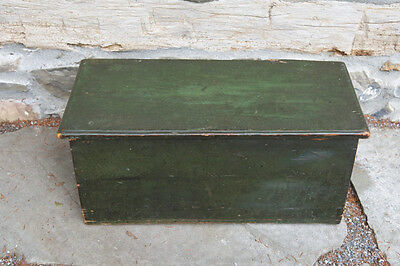 Early 19th Century Child Sized Sea Chest with Green Paint