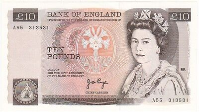 Bank Of England £10 Signed Page, Prefix A55, Uncirculated