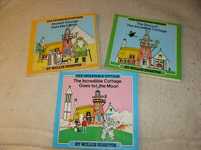 The Incredible Cottage, Paul & Willie Rushton, 1981 SC, Book Lot of 3 Books
