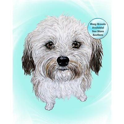 Havanese Art Dog Print Pet Portrait Picture