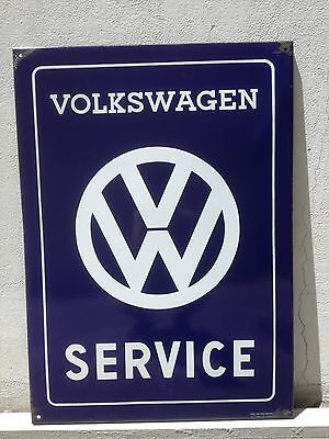 XXL Dealer Volkswagen Service Porcelain Enamel Sign 1960 Original Genuine T1 T2