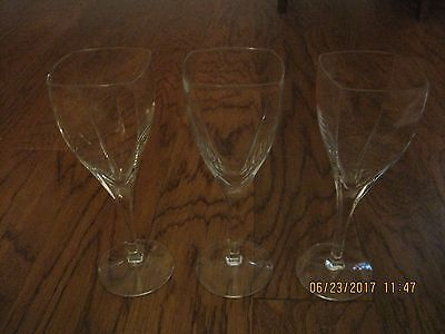 "MIKASA Panache Crystal Water Goblets / Wine Glasses, 8 7/8"" Tall, Auction for 1"