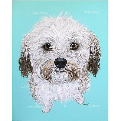 Havanese Painting Original Art Dog Pet Portrait
