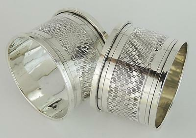 Pair Sterling Silver Napkin Rings 1933 George V