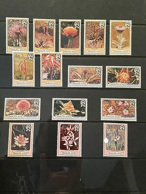 Amazing 1980 Mh Swaziland Scott #346-360 Complete Flower Set! Nice!