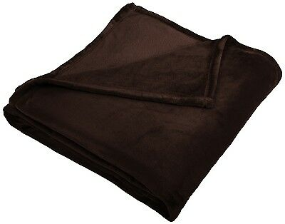 King Size Throw Blanket Brown Cover Comfort Velvet Soft Plush Bedding Couch New
