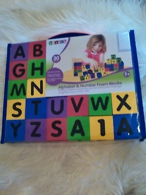 Alphabets And Number Foam Building Blocks Toy Learning Fun Play Toddler