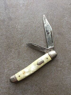 Vintage 2 BLADE MOTHER OF PEARL Imperial Pocket Knife