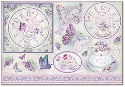 Rice paper 48х33cm. WATCH LILAC. Decoupage. scrapbooking. STAMPERIA