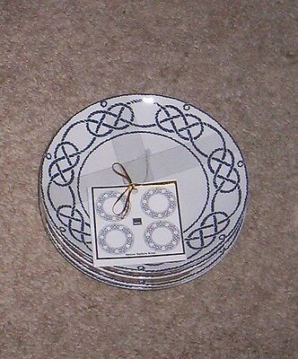 222 Fifth Sailors Knot Appetizer Canape Party Plates  NWT S/4