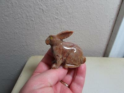 Rabbit, Hand carved Marble from the Andes. Rich colored Stone Rabbit, Unique!