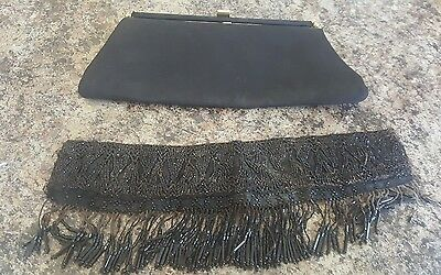 Antique beaded collar and purse clutch