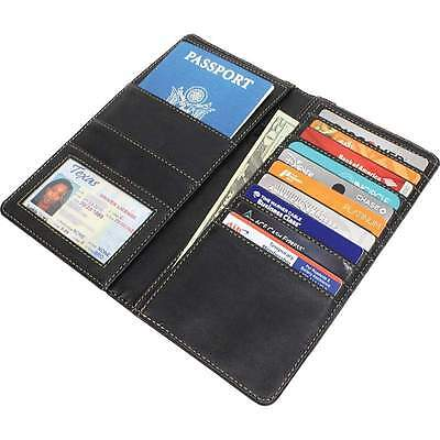Genuine Leather Passport Travel ID Credit Card Storage Luggage Doucument Wallet