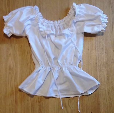 Handmade peasant blouse short sleeve/camisole/bloomers top, steampunk, new, 4-30