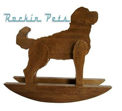 Rocking Goldendoodle Wood Rocking Dog