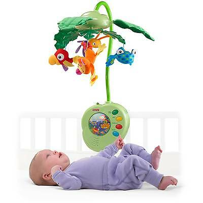 Fisher-Price Baby Crib Musical Mobile Rainforest Peek-a-Boo Leaves | K3799
