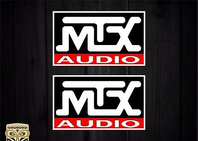 Pegatina Decal Sticker Autocollant Vinyl Bumper Mtx Audio Car Audio Logo Utv