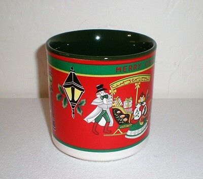 "George Z. Lefton Hand-Painted Holiday Mug ""Victorian Scenes"" #06419"