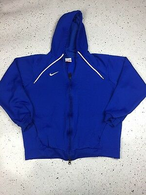 Nike FIT DRY Kids Full Zip Hoodie Jacket, Size Large (12-14), Royal Blue