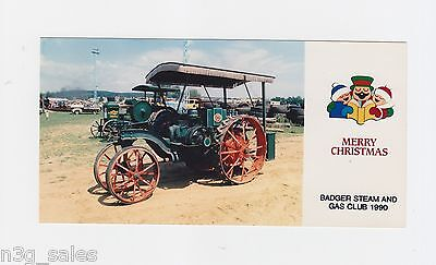 1990 90 Badger Steam & Engine Club Wisconsin Holiday Greeting Card Photograph