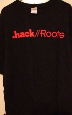 .HACK//ROOTS, T-Shirt. Extra Large. Black. By BANDAI