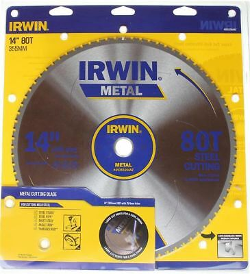 "Irwin Metal Steel Cutting Circular Saw Blade 355mm (14 "") 80 Teeth 4935559ANZ"