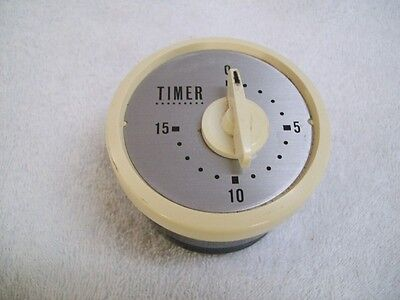 Vintage Rare O-Jewel 15 Minute Kitchen Timer Made in Japan Brown & Tan
