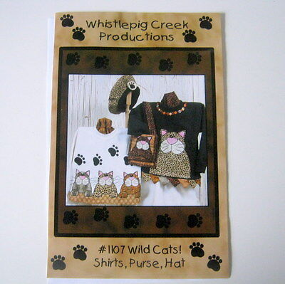 Applique Pattern, Wild Cats, Whistlepig Creek Productions,
