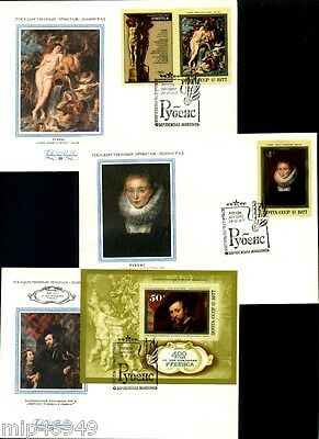 Russia USSR 1977 Rubens - Set of 6 FDC