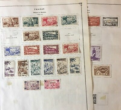 France Stamps Offices in Morocco Lot - see ALL pics$$$