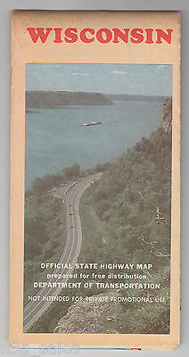 1982 82 Wisconsin Official State Highway Map Department Transportation Road Map