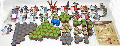 Huge Heroscape Lot: Complete Rise of the Valkyrie Character Set + 359 Hex Tiles