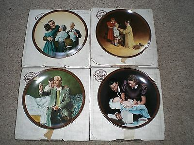 (4) Norman Rockwell: The Ones We Love Collection Plates; COA/Box