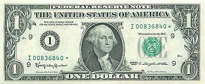 1963 series I/* **STAR** (MINNEAPOLIS) $1 Federal Reserve Note One Dollar Bill