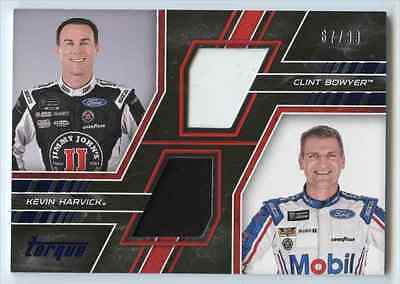 2017 Panini Torque Race Used Kevin Harvick Clint Bowyer /99