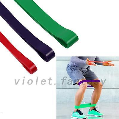 3PC Elastic Resistance Band Loop Heavy Duty Exercise Yoga Power Gym Fitness Gear