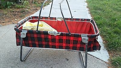 Vintage Baby Car Seat Sleeper Bed With Plastic Pad Dennis Mitchell