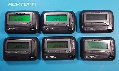 Lot of 6 Vintage Collector Communications Pagers From Telus Working ACKTONN 804