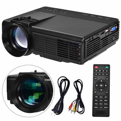 Portable Mini Projector HD 1080P Home Theater Video Movie Game 3D LED HDMI USB