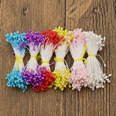 547c8a3017a 500 X Floral Stamens Double Tip Flowers Making Craft Supplies Wedding  Decoration