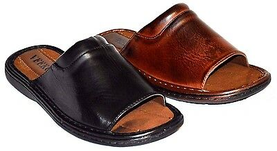 New Men's Sandals Slides Comfortable Casual Light Weight Fl2 Black & Brown
