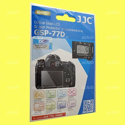 JJC 0.3mm Optical 9H Tempered Glass LCD Screen Protector Canon EOS 77D 9000D