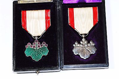 Set of 2 Japanese Army Medal Badge w/Box from Japan 290
