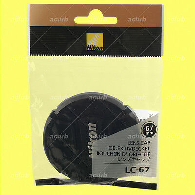 Genuine Nikon LC-67 Front Lens Cap 67mm Snap-On Lens Dust Cover Protector